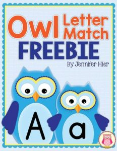 Owl Letter Match & Owl Opposite Flashcards