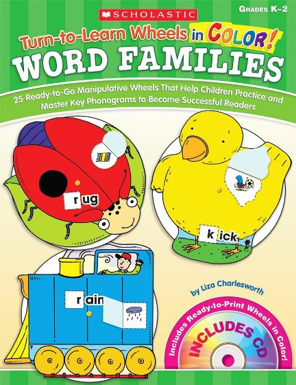 Turn to Learn Wheels in Color Word Family